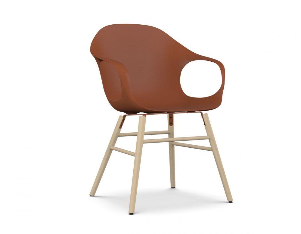 Elephant Wooden Base Armchair - Polyurethane Seat by Kristalia