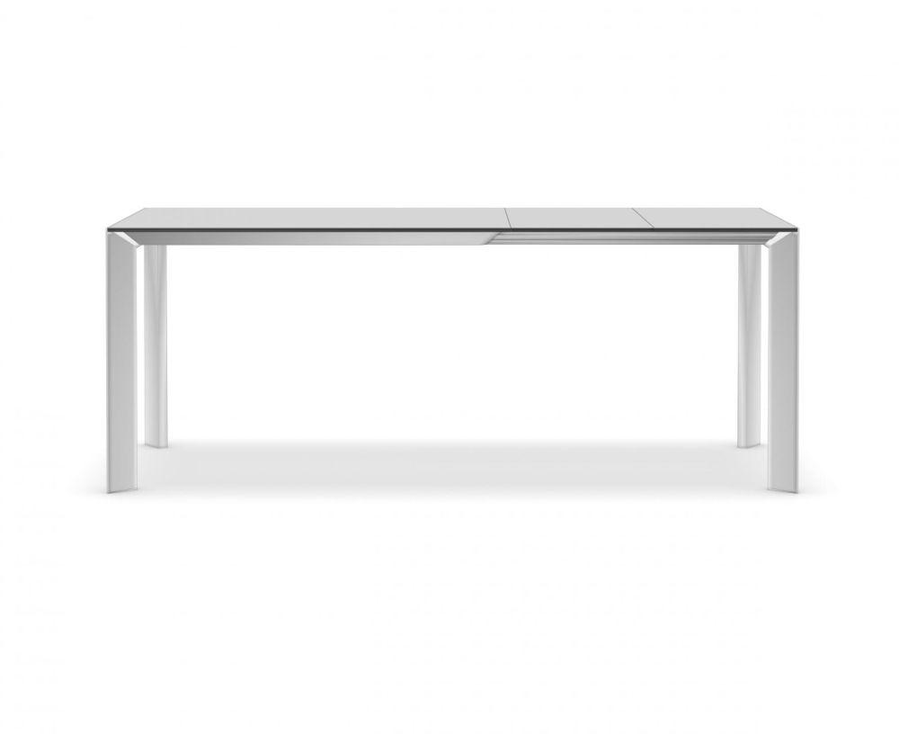 Nori Alucompact® / Pure-white Extensible - Depth 80 cm by Kristalia