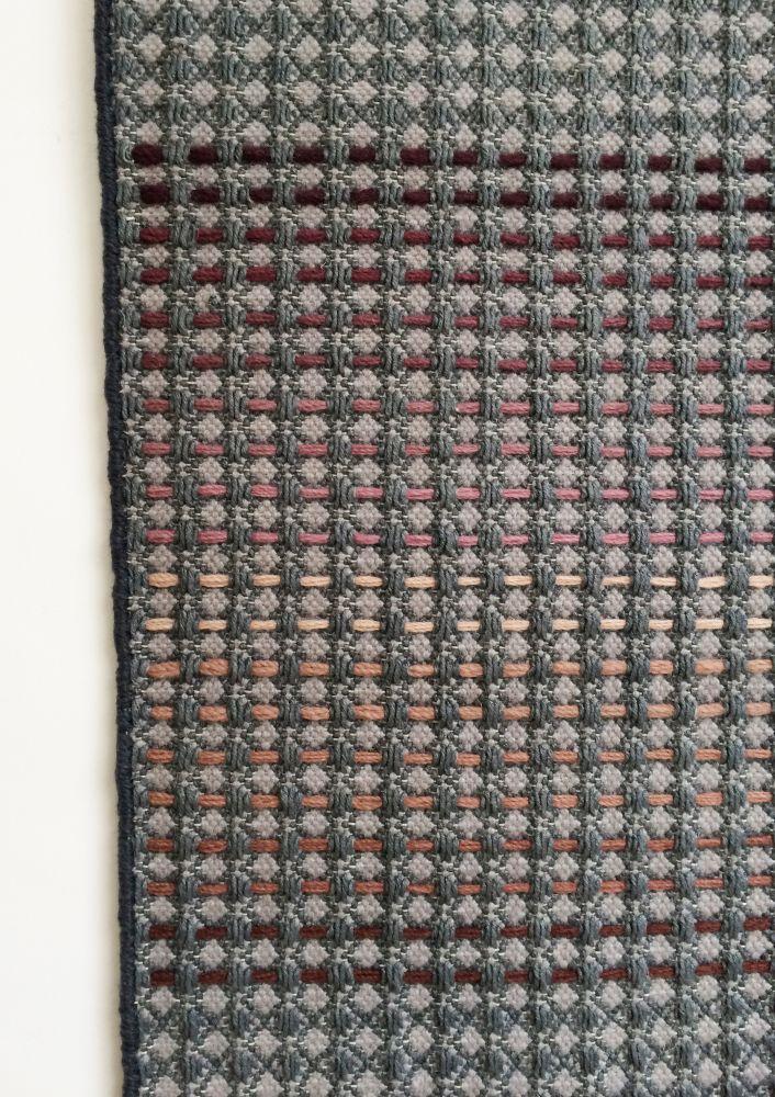 MATA - navy hand woven rug by WAFFLE DESIGN
