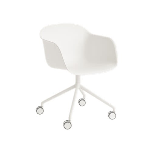 Fiber Armchair Swivel Base With Castors by Muuto