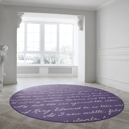 Richard III Round Rug  by Mineheart