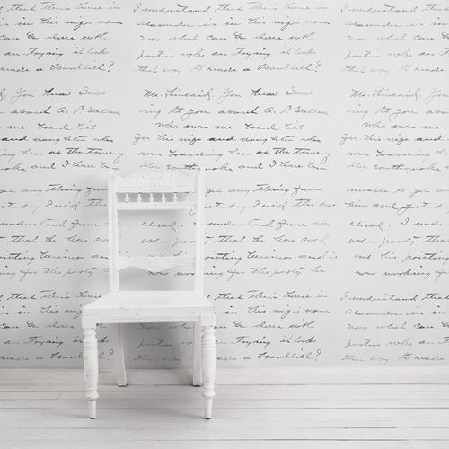 Almost White Concrete Loveletter Wallpaper by Mineheart