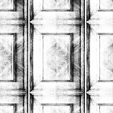 Dutch Inlay Panelling Wallpaper  by Mineheart