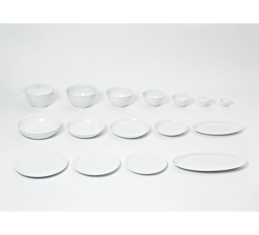 The White Snow - Flat Plate Set of 6 by Driade