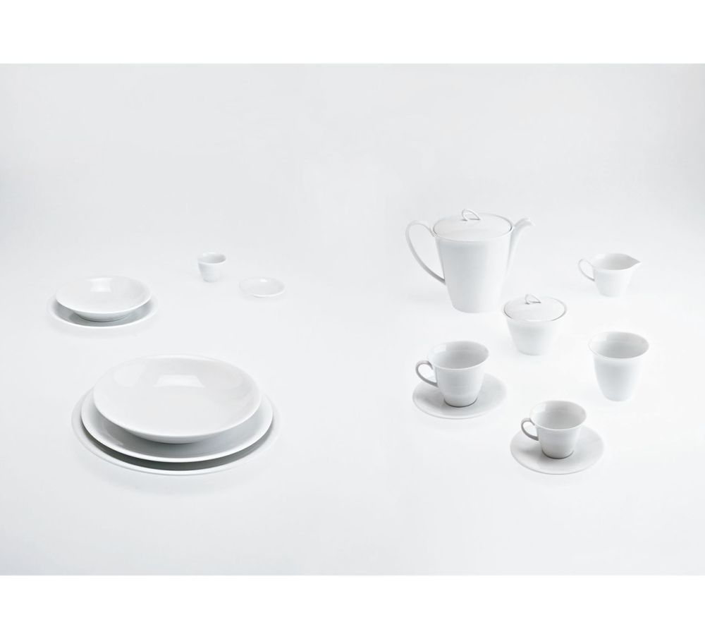 The White Snow - Coffee Cup Saucer Set of 6 by Driade