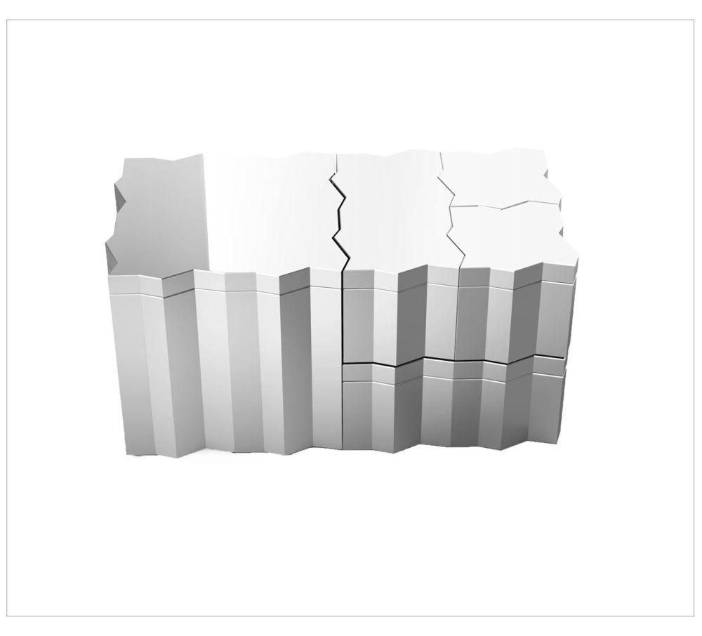 Frammenti Aluminum Box 4 by Driade