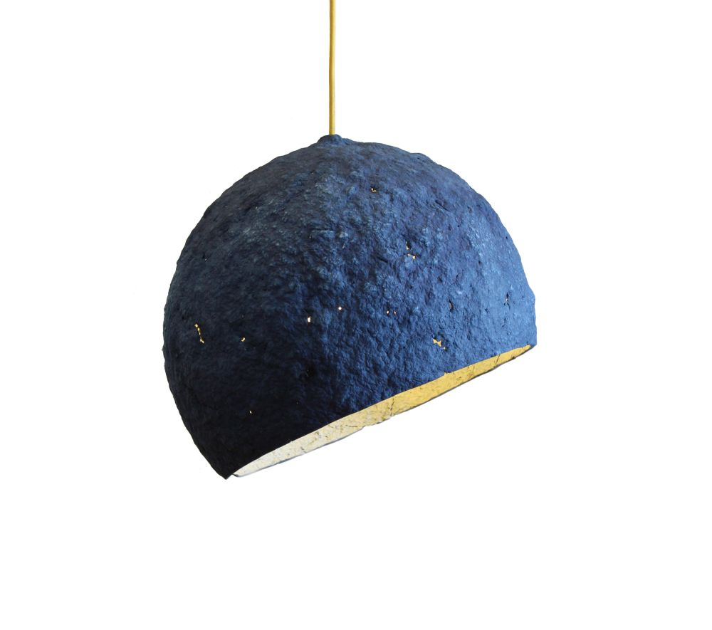 Pluto Paper Pulp Pendant Light by Crea-Re Studio