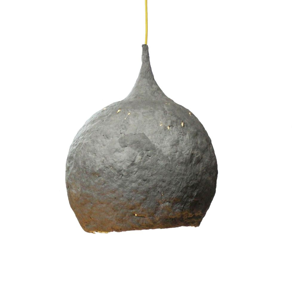 Drop Paper Mache Pendant Light by Crea-Re Studio