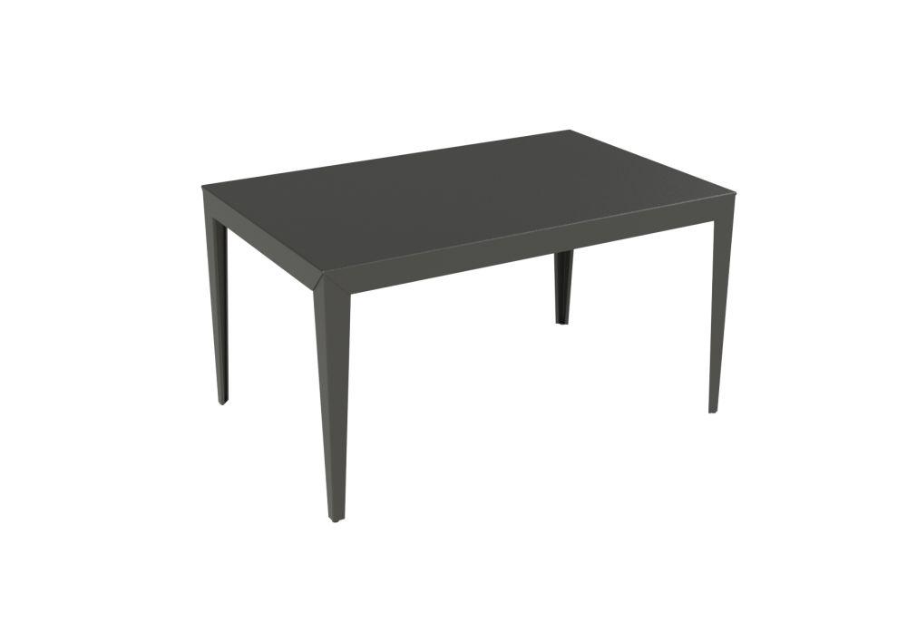 Zef Steel Rectangular Table 140x90 White 01 Ral 9016 Straight