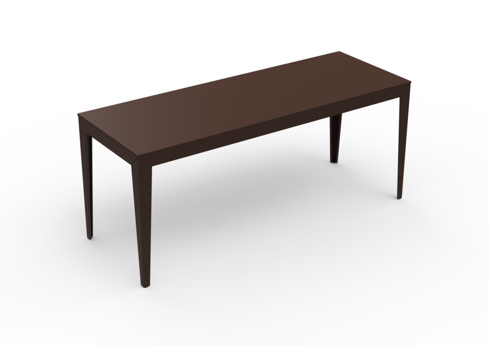 Zef Steel Rectangular Table 180x65 by Matière Grise