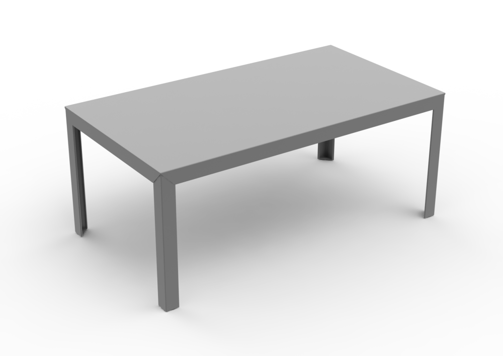 Zef Steel Rectangular Table 180x90 by Matière Grise