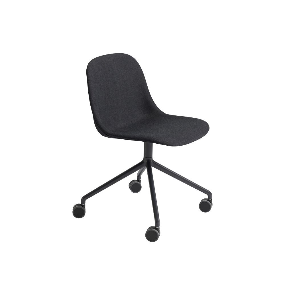 Fiber Side Chair/Swivel With Castors Non-Upholstered Seat by Muuto
