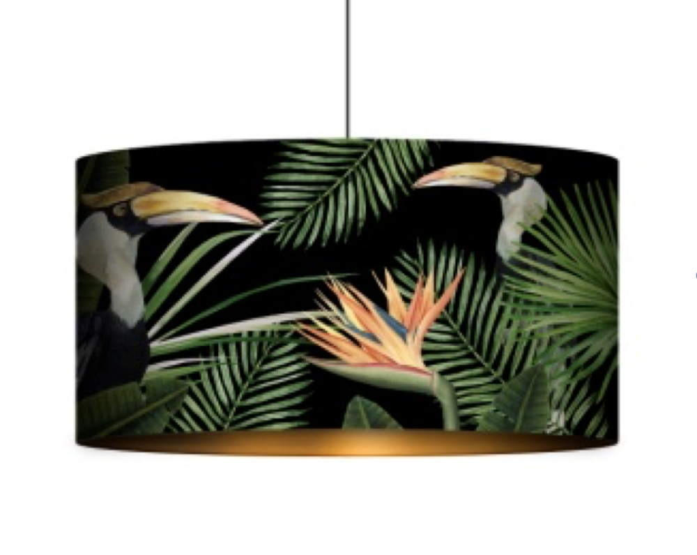 Birds of Paradise Drum Pendant Light by Mind The Gap