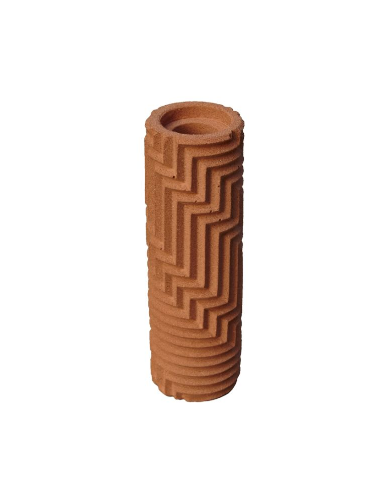 Herringbone Bud vase - Brick Red by Phil Cuttance