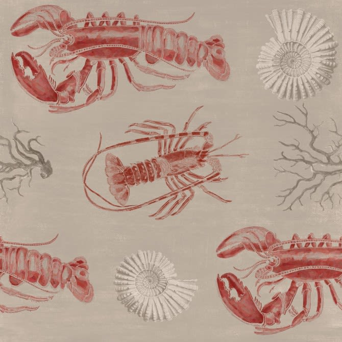 Lobster Taupe Wallpaper by Mind The Gap