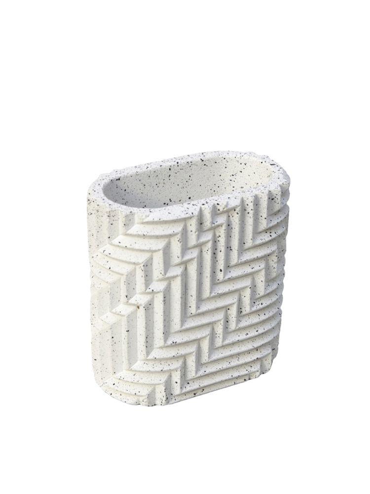 Herringbone Pen Pot - Granite by Phil Cuttance