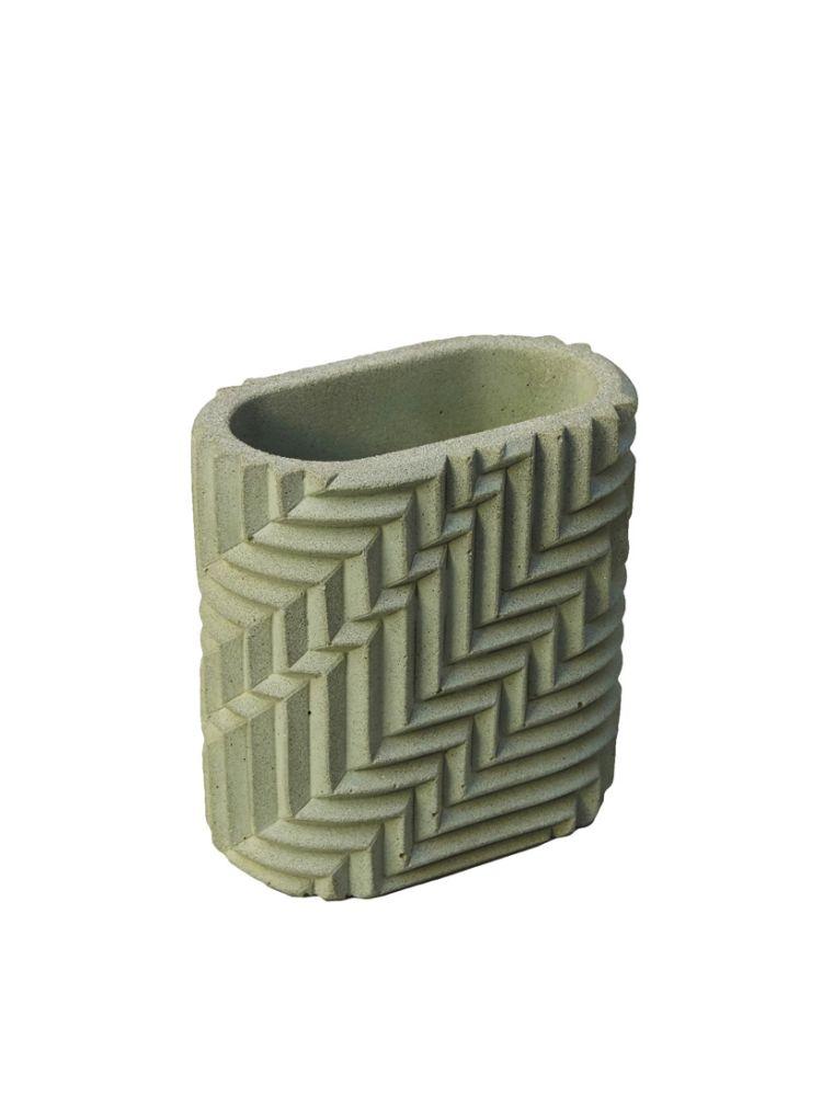 Herringbone Pen Pot - Sage Green by Phil Cuttance