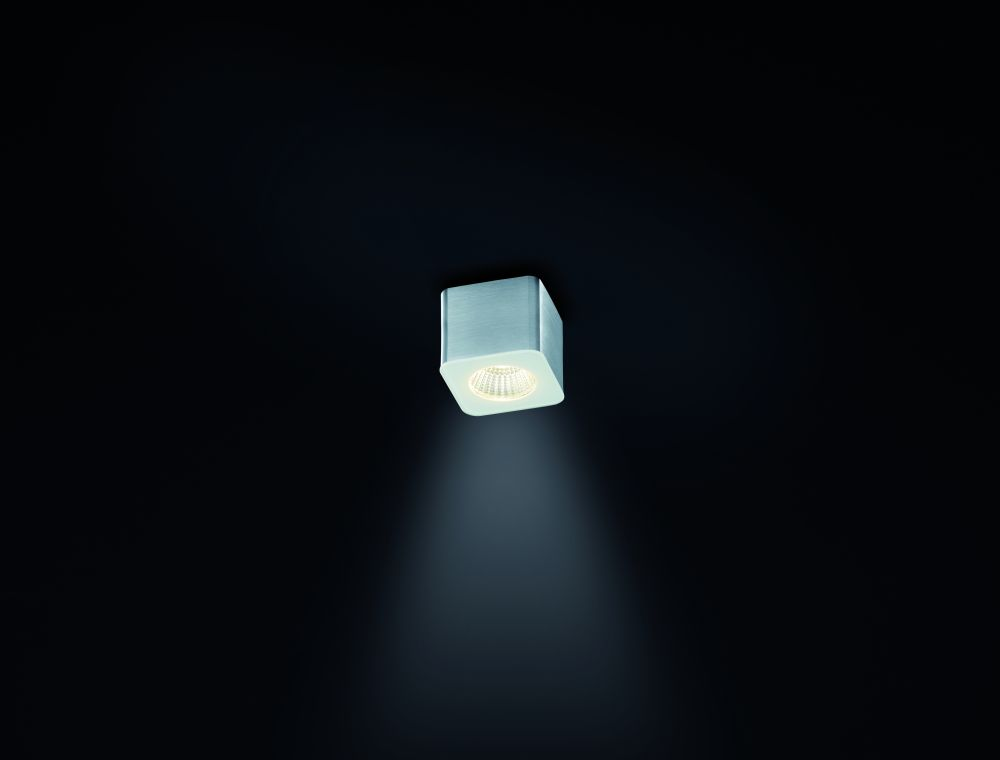 Oso Square Ceiling Light by Helestra