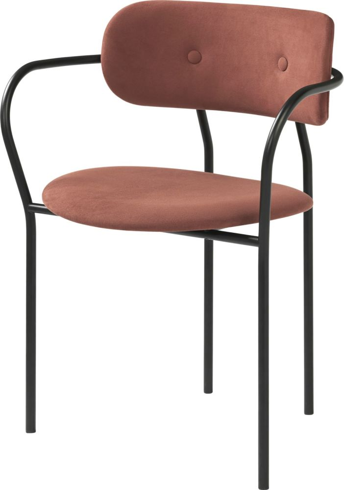 Coco Dining Chair with Armrest by Gubi