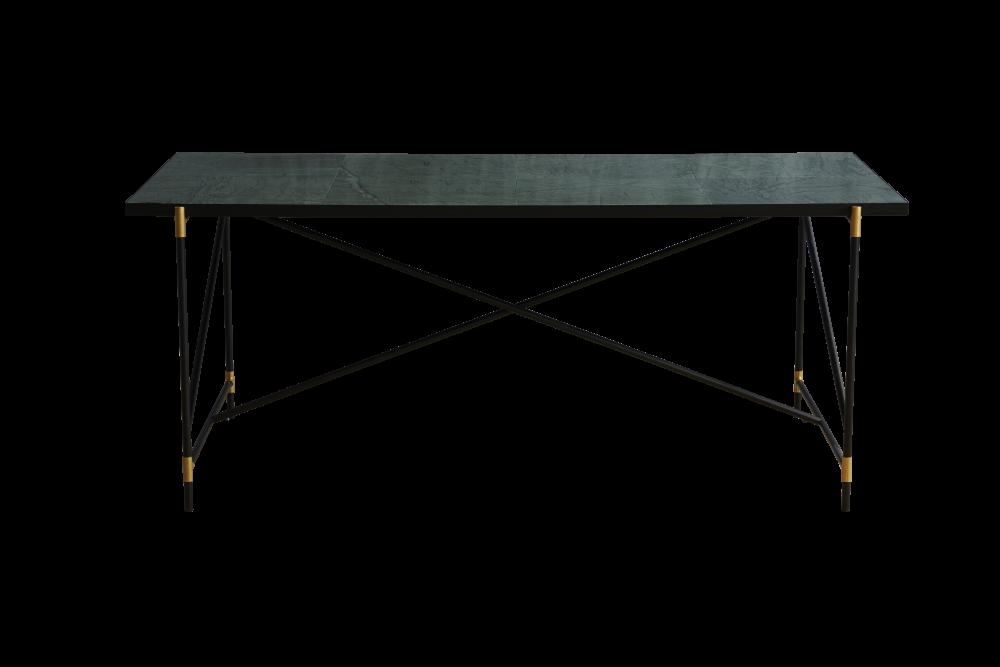 Handvärk Dining Table, Brass Details by HANDVÄRK
