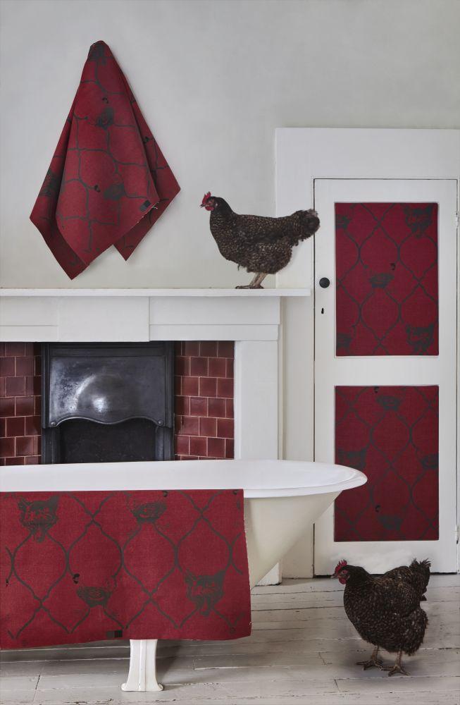 Fox & Hen Fabric by Barneby Gates