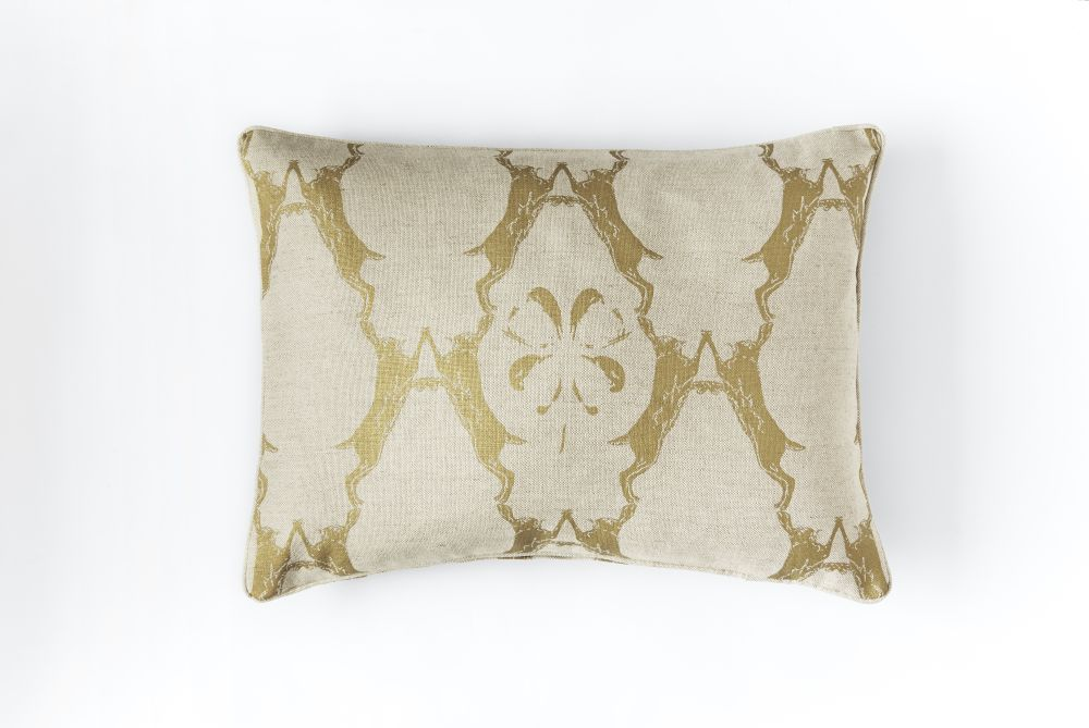 Boxing Hares Cushion by Barneby Gates