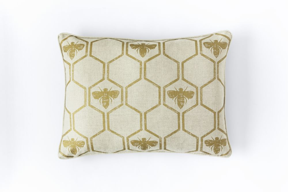 Honey Bees Cushion  by Barneby Gates