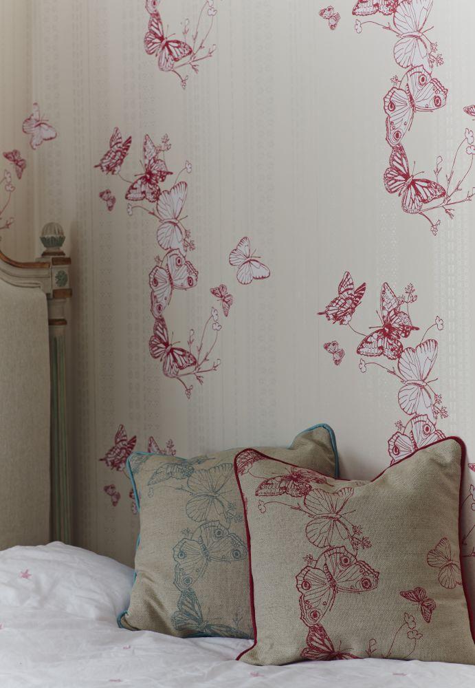 Bugs & Butterflies Cushion  by Barneby Gates