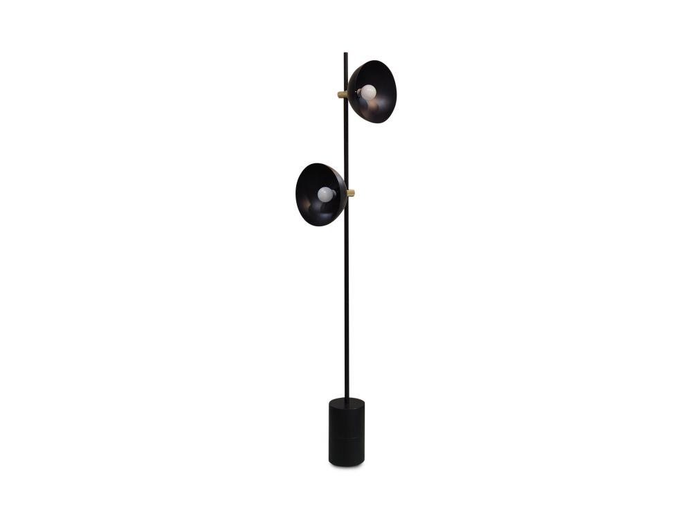 Studio Floor Lamp, Brass Details by HANDVÄRK