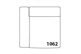 Mags Narrow Modular Seating Element 1062 - Left by Hay