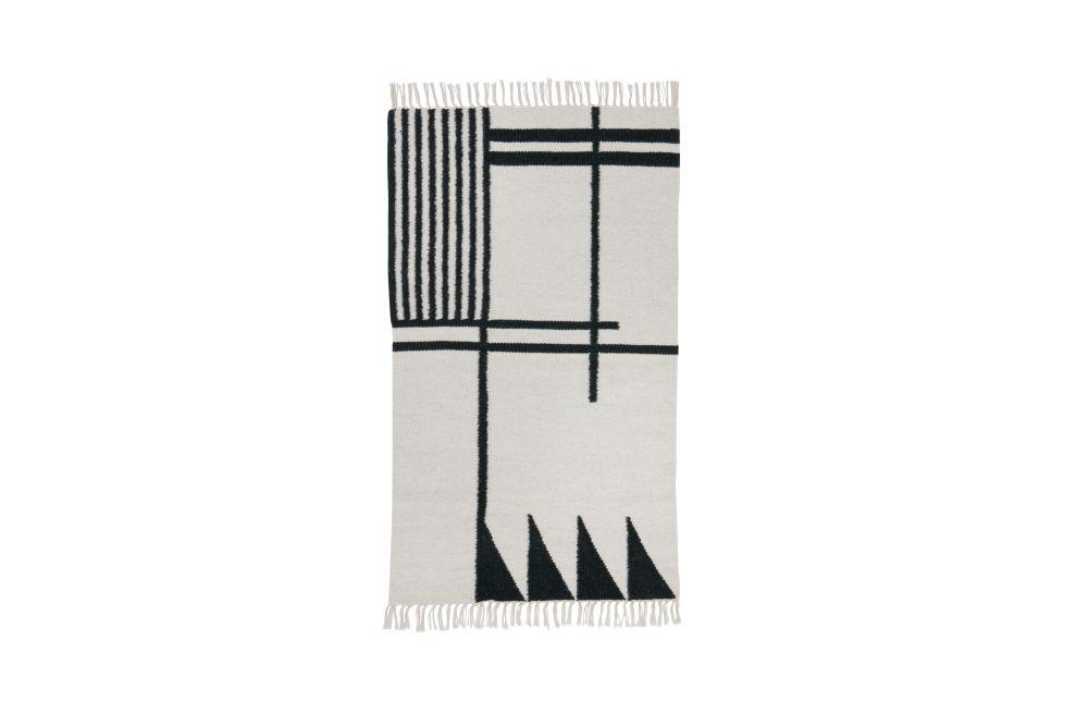 Kelim Rug, Black Lines, Small - Set of 2 by ferm LIVING