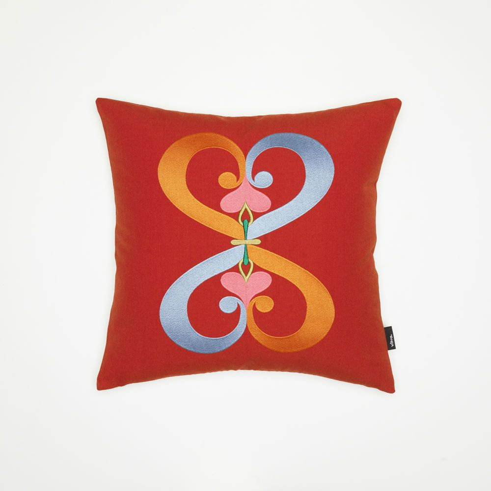 Embroidered Pillow - Double Heart by Vitra