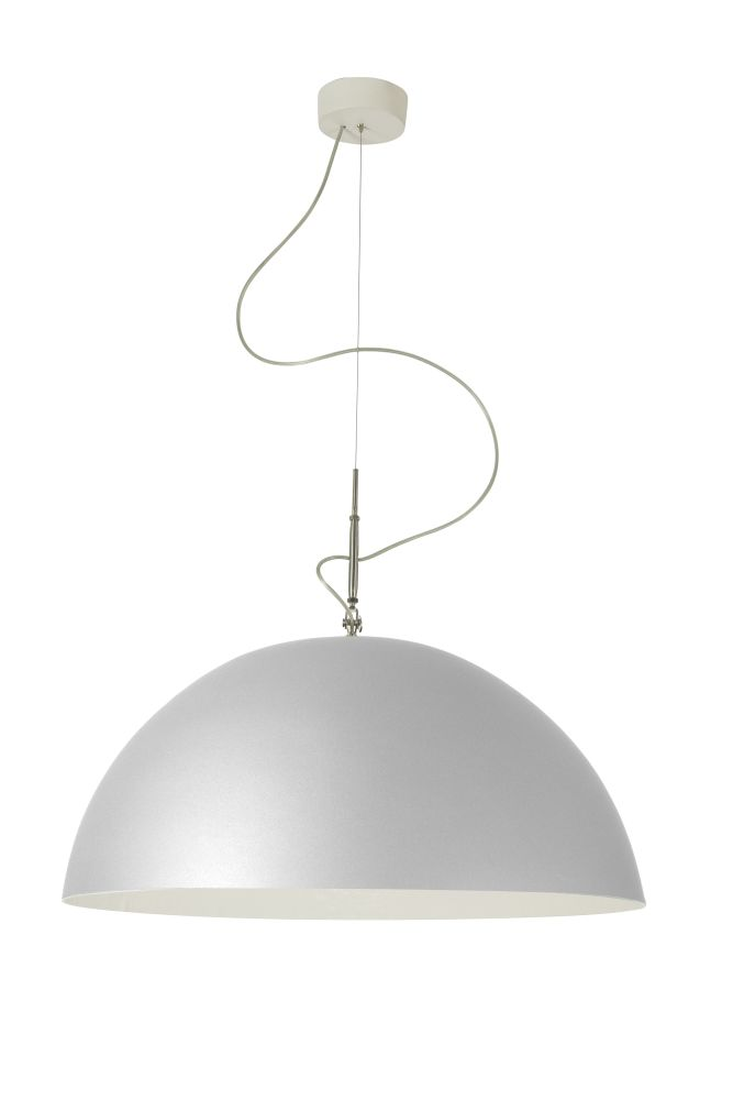 Mezza Luna Silver Pendant Light by in-es.artdesign