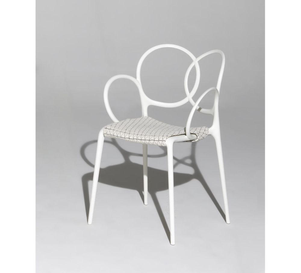 Sissi Stackable Armchair Set with Cushion by Driade
