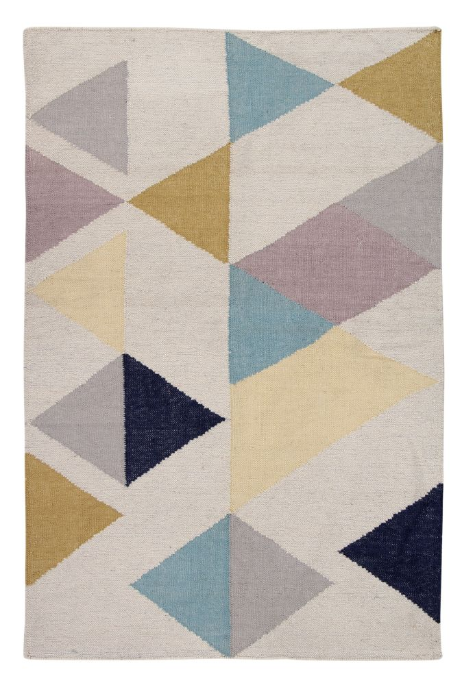 A Touch of Sparkle: Contemporary Handwoven Wool Rug by Ana & Noush
