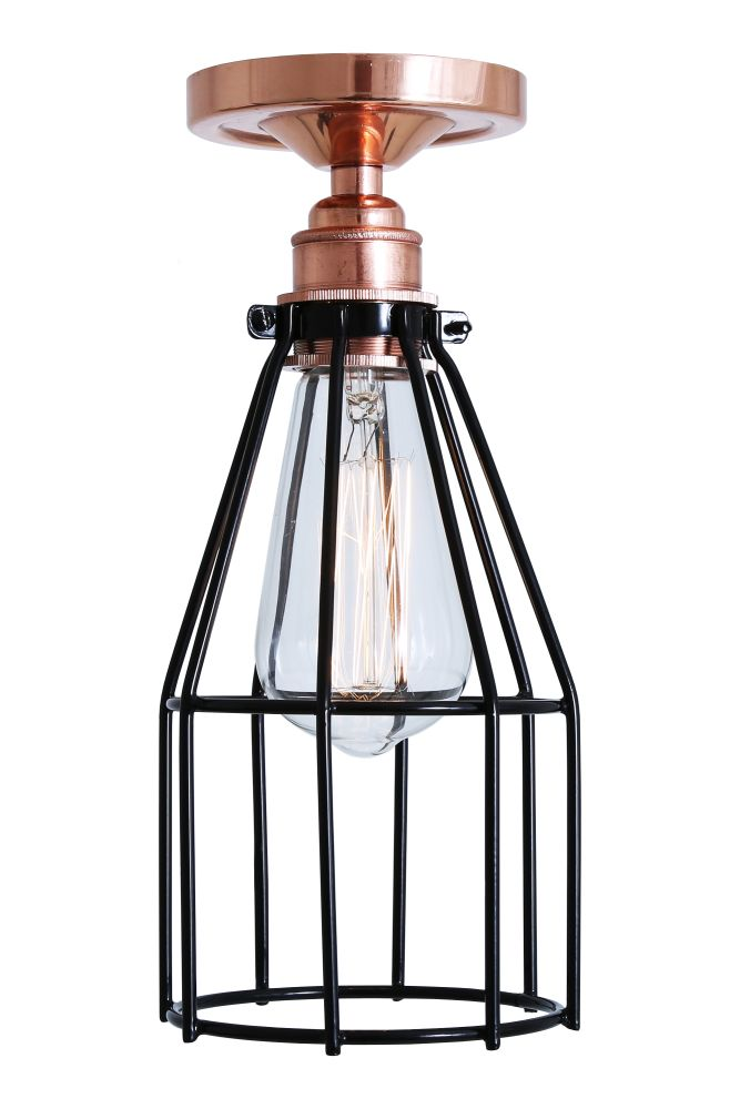 Lima Flush Cage Ceiling Light by Mullan Lighting