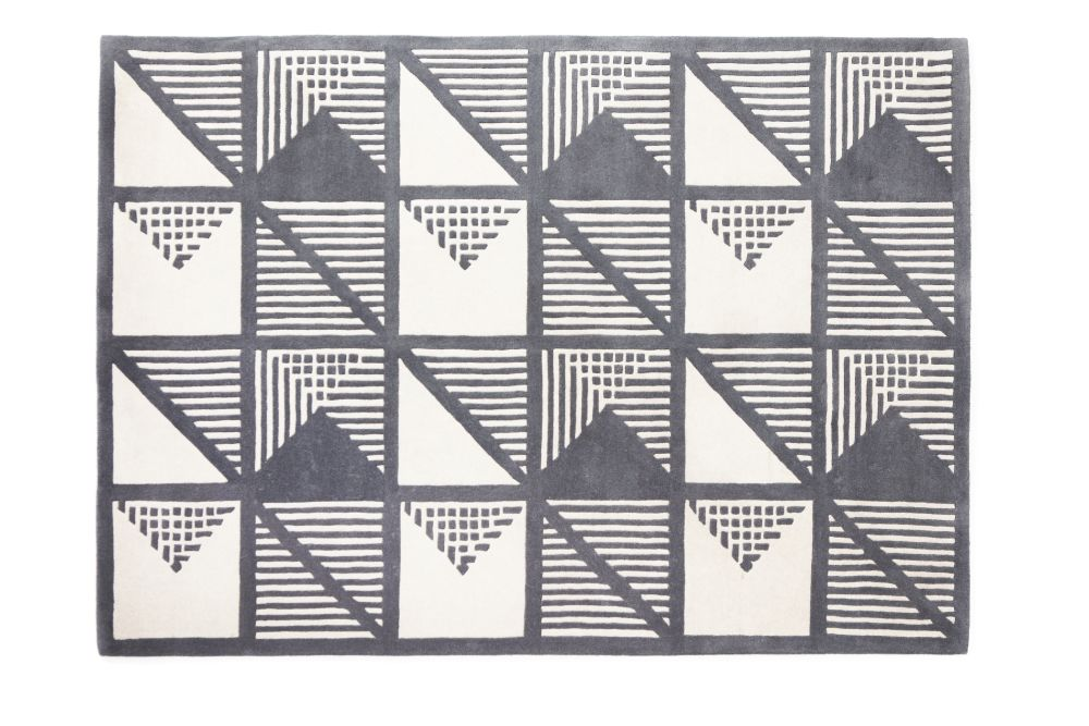 Gridwork Two-Tone Wool Rug by Lindsey Lang