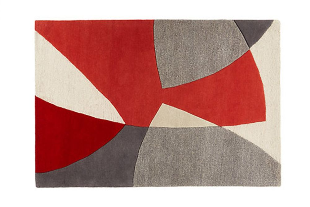 Scatter Red Wool Rug by Lindsey Lang