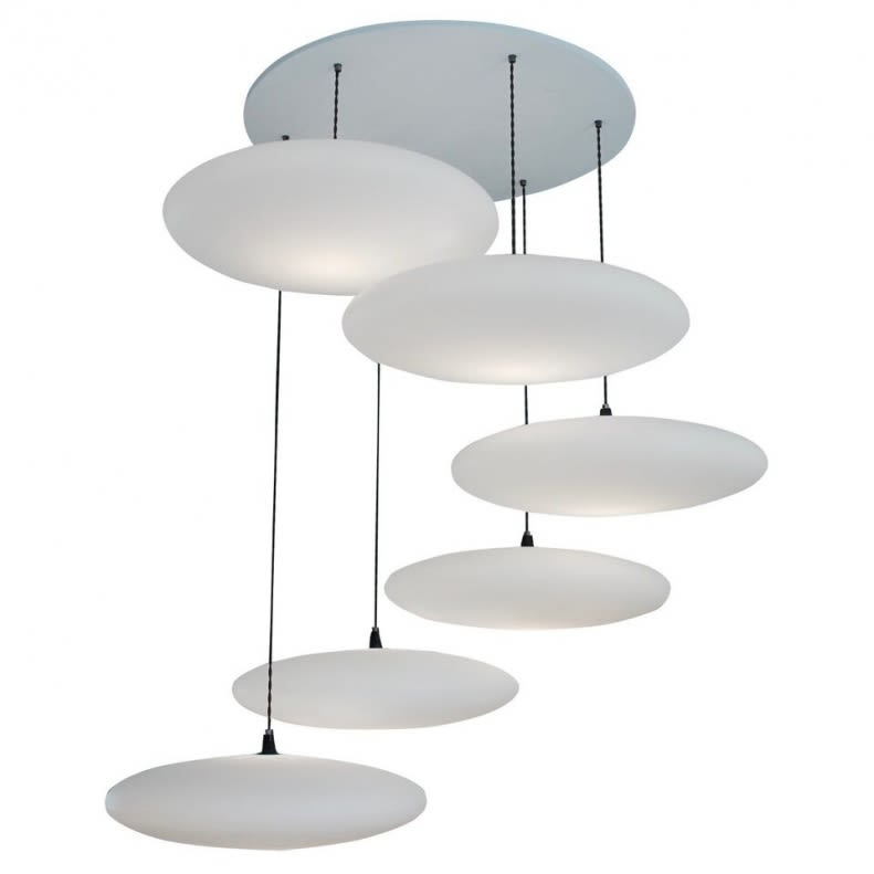 Ethel 6-Drop Pendant Light by One Foot Taller
