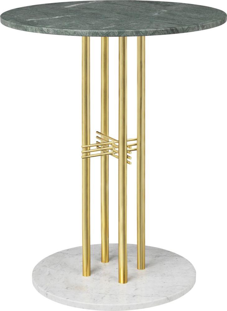 TS Column Bar Table Marble by Gubi