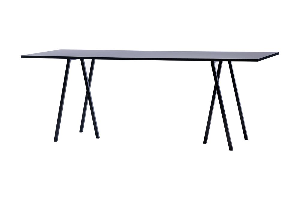 Loop Stand Rectangular Dining Table by Hay