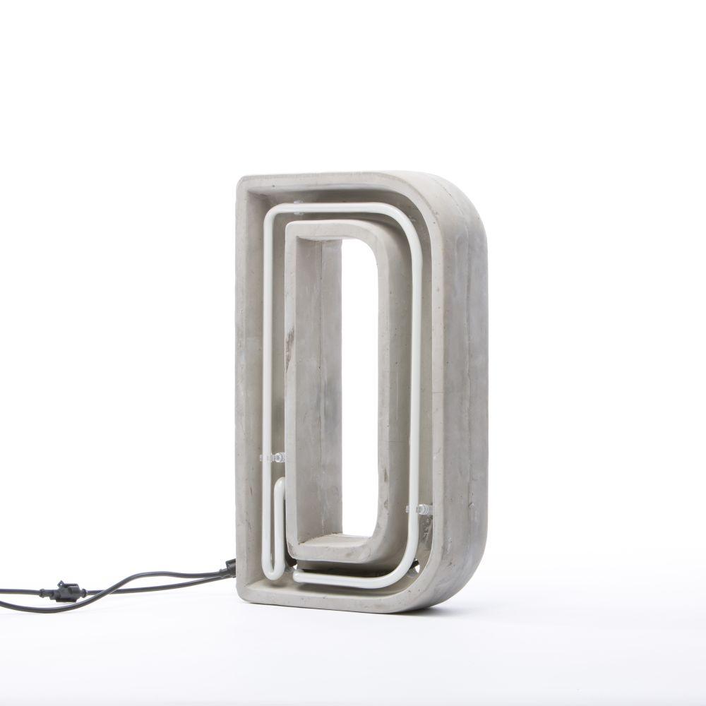 Alphacrete Alphabet Lamp by Seletti