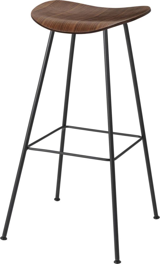 Gubi 2D Bar Stool Center Base - Unupholstered by Gubi
