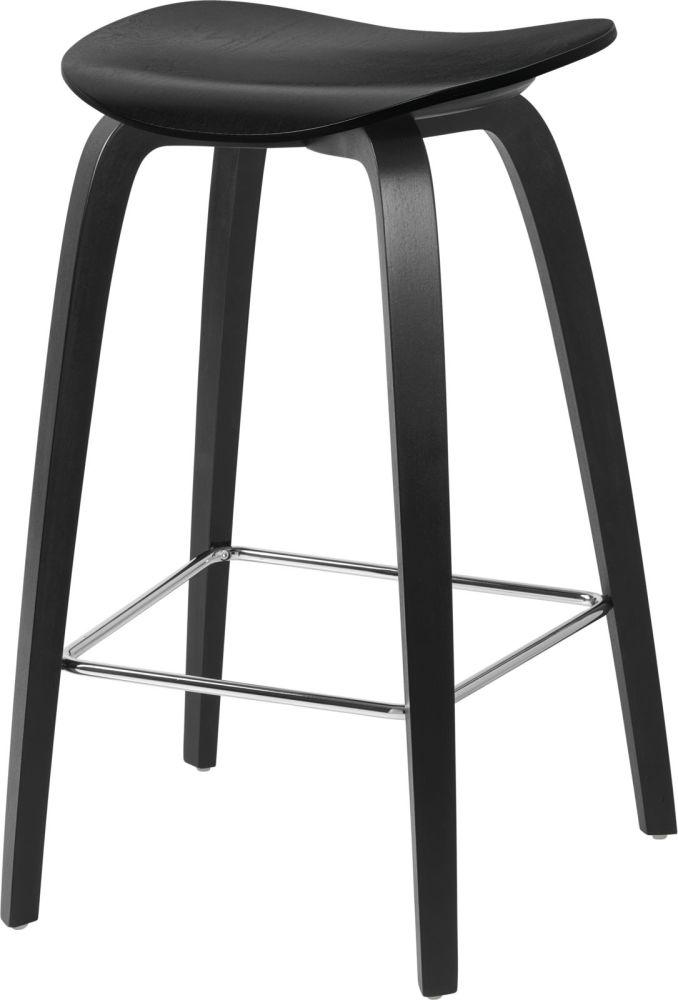 Gubi 2D Wood Base Counter Stool - Unupholstered by Gubi