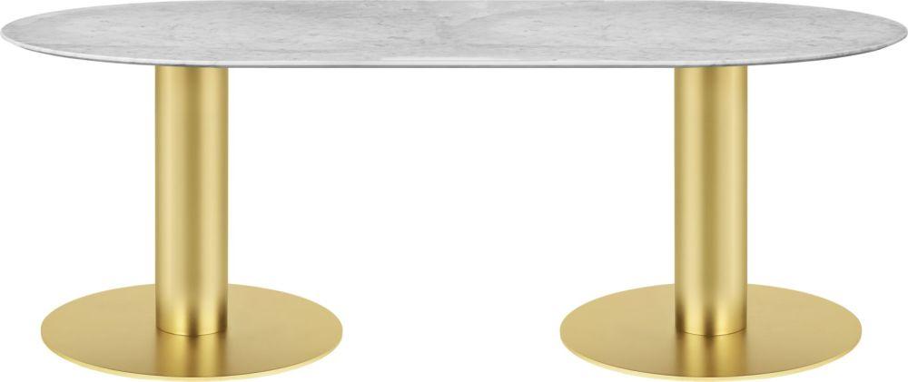 Gubi 2.0 Elliptical Dining Table - Marble by Gubi