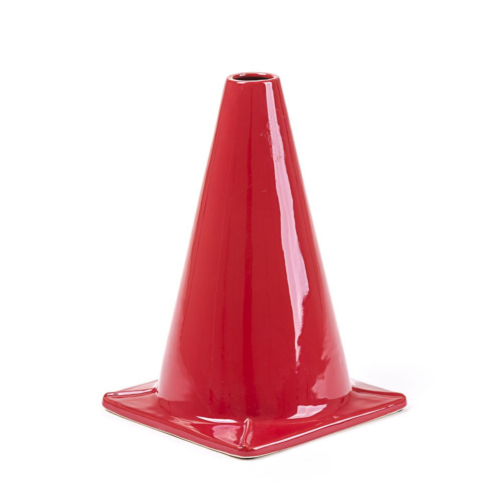 Work Is Over Cone Vase (Set of 2) by Seletti