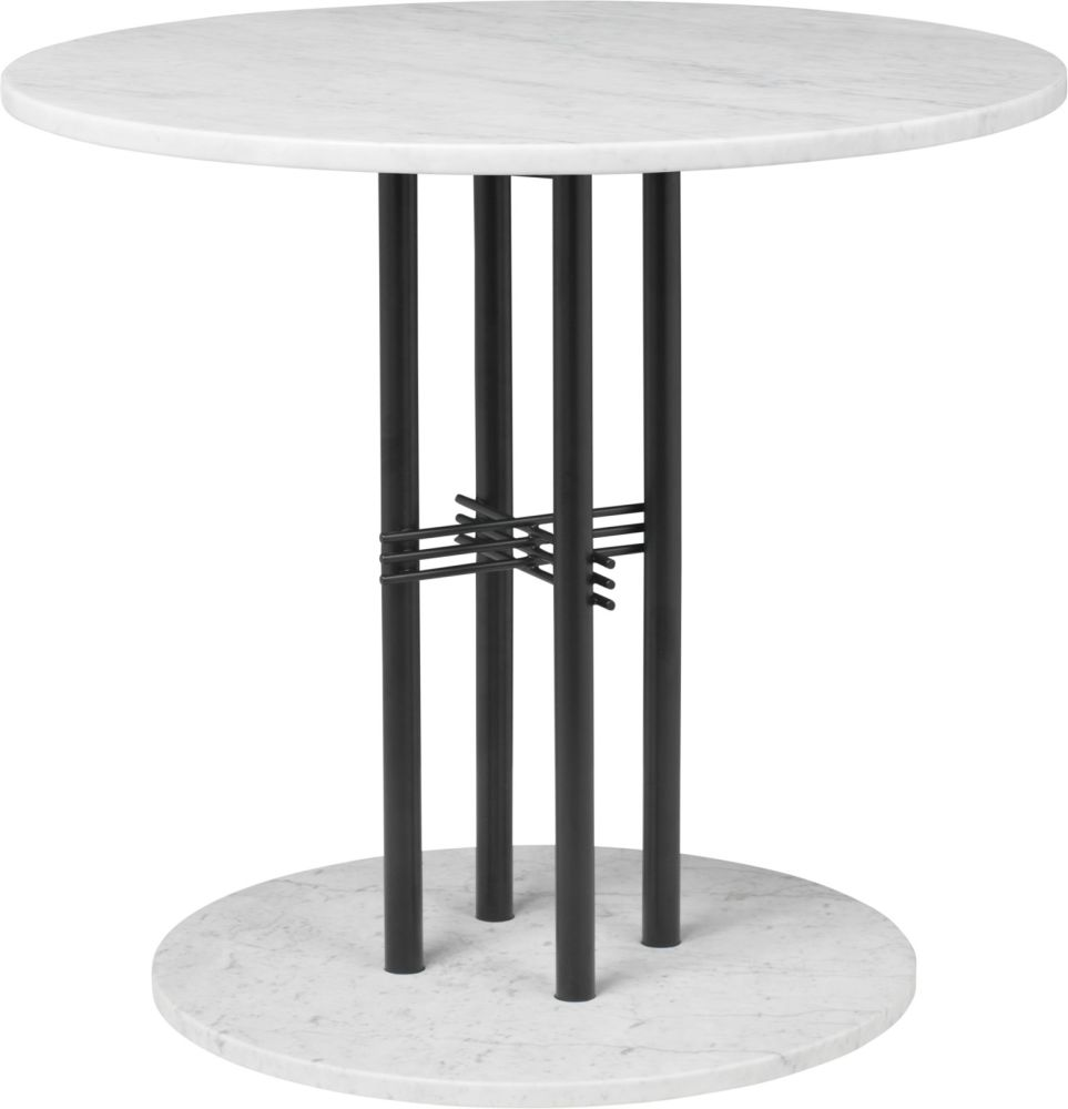 TS Column Dining Table Marble by Gubi