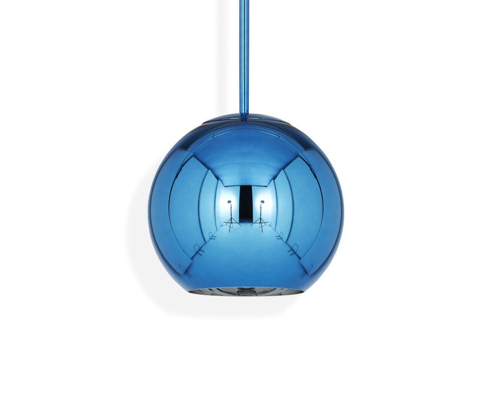 Copper Round Pendant Lamp by Tom Dixon