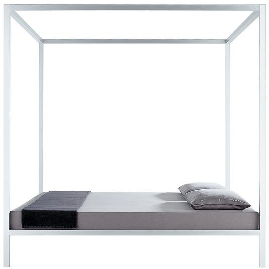 Aluminium Bed Canopy Sommier Lacquered 90cm Gloss White By Mdf