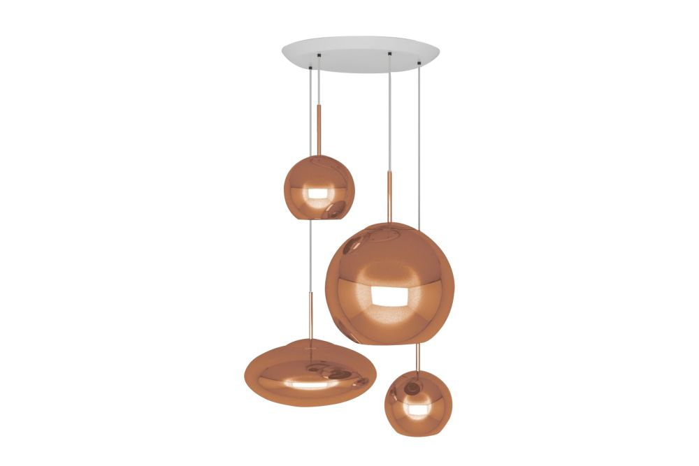 Copper Range Round Pendant System by Tom Dixon